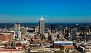 view of Indianapolis city skyline